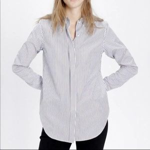 Theory Stripe Ganesa Blouse